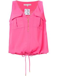 zip front blouse Trina Turk