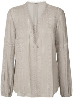 sheer long sleeve blouse Elie Tahari