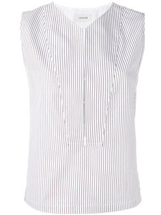 striped sleeveless blouse Lemaire