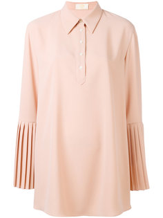 pleated sleeve shirt Sara Battaglia