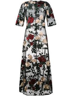 платье Simmons с цветочной вышивкой Ganni