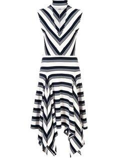 асимметричное платье с глубоким V-образным вырезом Derek Lam 10 Crosby