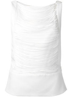 pleated sleeveless blouse Tom Ford