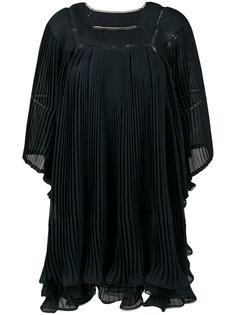 плиссированное широкое платье Chloé