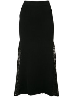 mesh-panelled ribbed-knit skirt Derek Lam
