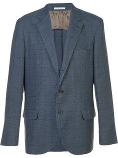 пиджак в клетку Brunello Cucinelli