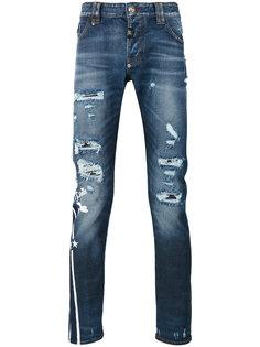 рваные прямые джинсы Philipp Plein