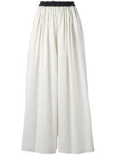 полосатые широкие брюки Brunello Cucinelli