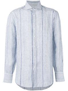 полосатая рубашка с длинными рукавами Brunello Cucinelli
