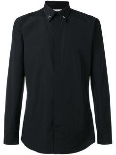 рубашка с заплатками в виде звезд на воротнике Givenchy