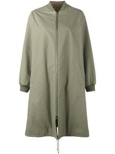 длинное пальто в стиле бомбер Army Yves Salomon