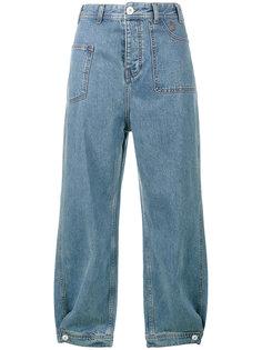 укороченные джинсы Ganni