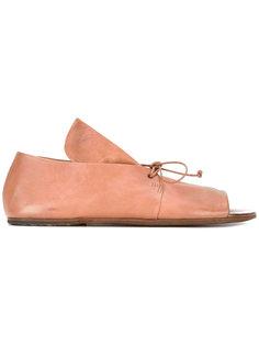 туфли на шнуровке с открытым носком Marsèll