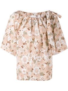 футболка с цветочным принтом Chloé