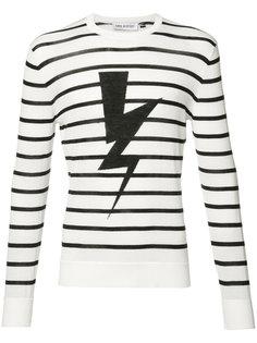 striped lightning bolt sweatshirt Neil Barrett