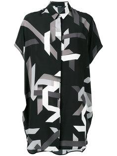 платье-рубашка с геометрическим рисунком Neil Barrett