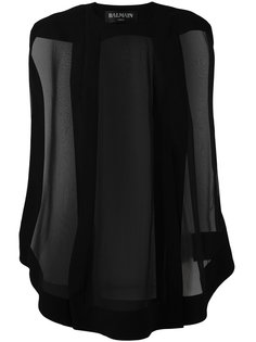блузка с прозрачными панелями Balmain