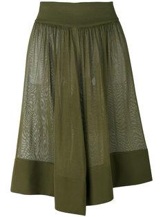 полупрозрачные драпированные шорты  Balmain