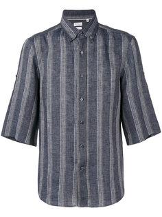 полосатая рубашка с короткими рукавами Brunello Cucinelli