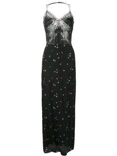 длинное платье с цветочным принтом Ermanno Scervino