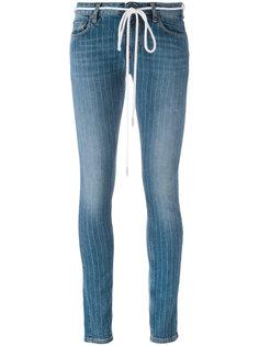 джинсы скинни в тонкую полоску  Off-White