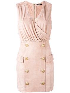 коктейльное платье с пуговичной отделкой Balmain