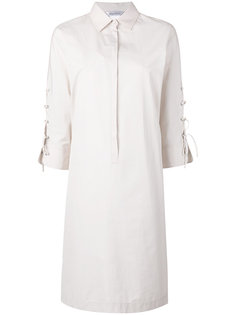 платье-рубашка со шнуровкой на рукавах Max Mara