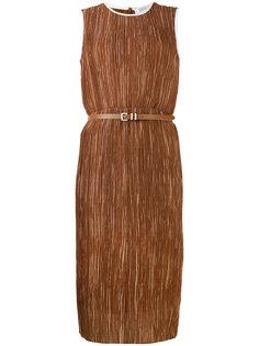фактурное платье с поясом Max Mara