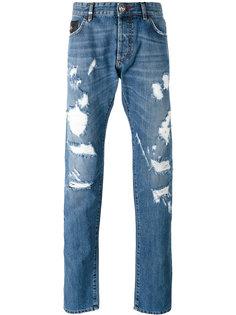 джинсы с потертой отделкой Philipp Plein