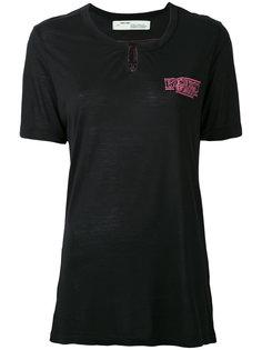 футболка с вышивкой ´Business Woman´  Off-White