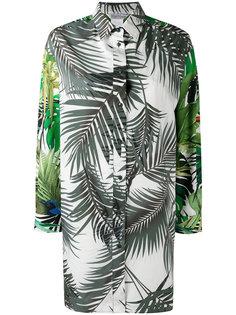 удлиненная рубашка с рисунком из листьев Max Mara