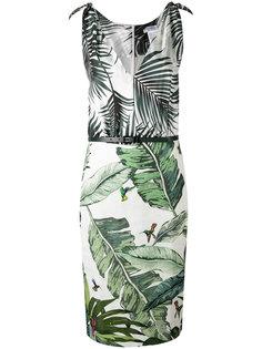 платье с контрастными растительными рисунками Max Mara