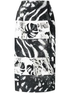 юбка-карандаш с растительными принтами Max Mara
