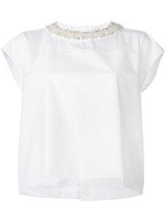 блузка с декорированным воротником Ermanno Scervino
