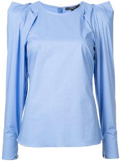 блузка со структурированными плечами Derek Lam