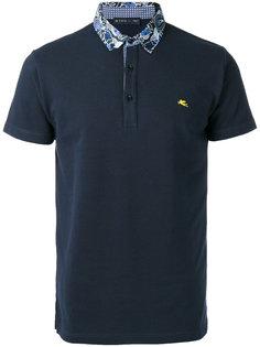 футболка-поло с контрастным воротником Etro