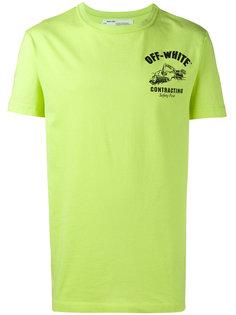 футболка с принтом contracting Off-White