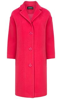Розовое пальто с английским воротником La Reine Blanche