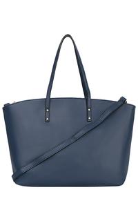 Синяя кожаная сумка La Reine Blanche