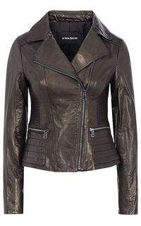 Черная кожаная куртка La Reine Blanche