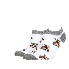 Носки низкие Запорожец Шарик Белые