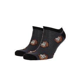 Носки низкие Запорожец Короткие Темно-Серые