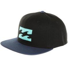 Бейсболка с прямым козырьком Billabong All Day Snapback Black/Blue