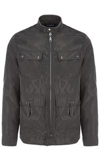 Куртка с отделкой экокожей и трикотажем Al Franco