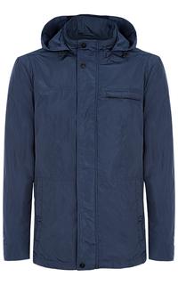 Куртка с капюшоном и отделкой экокожей Jorg Weber