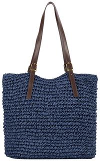 Синяя соломенная сумка Maxval