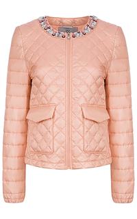 Утепленная куртка с декором Madzerini