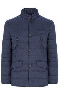 Синяя мужская куртка на синтепоне Clasna