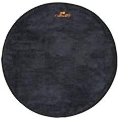 Двусторонний Мягкий Коврик Для Ног Из Микрофибры Диаметр 60 См - Серый/чёрный Nabaiji