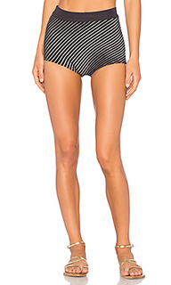 Striped hot pants - EGREY